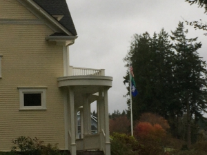 House and Flags