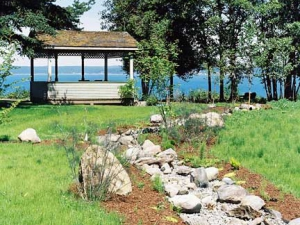 Dry River Bed and Gazebo