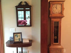 Grandfather Clock and Guest Books
