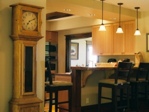 Grandfather Clock and Bar